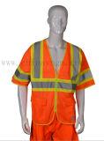 T-shirt r3fléchissant de visibilité de circulation élevée de sûreté