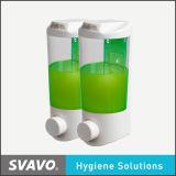 Распределитель мыла санузла с двойным прозрачным баком (V-9122)