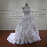 Robe de mariage de maternité d'organza de ceinture de pierre gemme de robe de mariage