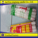 450g 75g White Fluted Candle Factory