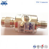 Type parafoudre du câble d'alimentation BNC F-N TNC SL16 d'antenne de saut de pression de connecteur
