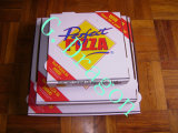 Bianco esterno e casella interna del Kraft/naturale pizza (CCB0235)