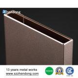 Коробка профиля штрангя-прессовани покрытия выполненная на заказ анодированная алюминиевая