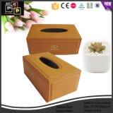 Rectángulo de papel de cuero facial de tejido de la alta calidad de lujo de Customed del fabricante de China (3639)
