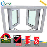 Finestra di vetro della doppia di vetro UPVC/PVC stoffa per tendine standard australiana del vinile