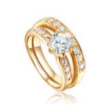 Sterlingsilber-Ring der 18k Vergoldung-925 für Damen (R-0336)