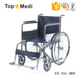 Topmedi Standard Manual Steel Wheelchair für Disabled