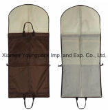 Printed feito sob encomenda Black PEVA e Non-Woven Clothes Cover Suit Carrier Garment Bag