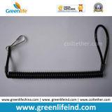 Remache plástico negro sólido del metal del acollador W/Key Ring& de la cadena del resorte