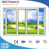 広州のドアの工場のためのブラインドの内部デザインのアルミニウムガラス窓