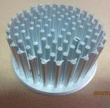 LED를 위해 도는 CNC를 가진 찬 위조 알루미늄 열 싱크는 아래로 점화한다