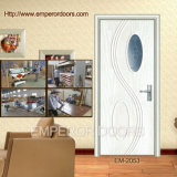 PVC-Furnier-Blatttür, malen freie Tür, MDF-Glas-Tür