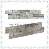 Белое деревянное мраморный плакирование каменной стены культуры шифера для здания