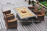 Rattan barato do PE do jardim da venda quente que janta a mobília que janta o jogo