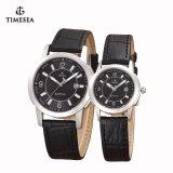 Het Horloge Mens van het Kwarts van het Roestvrij staal van de Horloges van de manier & het Horloge van dames met Leer Band72193