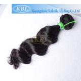 Cabelo humano frouxo brasileiro do cabelo 100% da onda