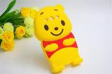 黄色くかわいく大きい腹ウィニーほこりG3 (XSD-040)のためのばかな静かにシリコーンの電話箱