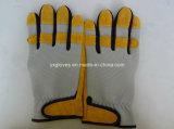 Перчатка кожаный Перчатк-Безопасности Перчатк-Перчатк-Желтая Перчатк-Промышленная