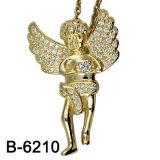 Micro pendente di angelo della regolazione dell'argento sterlina 925