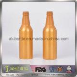 Бутылка пива пустого цвета алюминиевая с крышками кроны