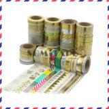 Nueva cinta de oro de la cinta adhesiva/laser de Washi de la hoja de Somitape que viene para la decoración del partido