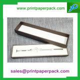 Rectángulo de papel impreso insignia de encargo hecha a mano de lujo de la joyería/del regalo/del anillo/del collar