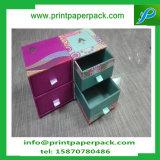 Bestellte Luxuxdrucken aufbereiteten Material-Merkmals-Papierverpackenkasten-Ablagekasten mit Fach voraus