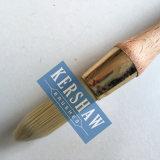 Brosse ronde (pinceau avec la poignée conique en bois de filament et de hêtre, la brosse incliner-ronde)
