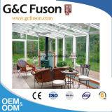 Double Sunroom en verre glacé Tempered de guichet de spire d'inclinaison de porte de Castment