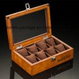 Hölzerner Schmucksache-Verpackungs-Kasten-Luxuxgroßverkauf-handgemachter Uhr-Kasten