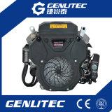 motor de gasolina elétrico de refrigeração ar do começo do cilindro de 14kw/19HP V 2