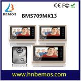 Interphone visuel de sonnette de téléphone de porte de 7 pouces 1-Camera 3-Monitor