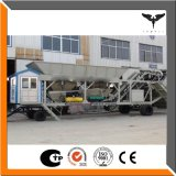 La courroie Hzs75 stationnaire transportent l'usine de traitement en lots portative de béton prêt à l'emploi