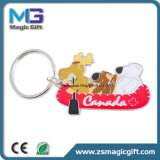 Las ventas calientes modificaron el metal para requisitos particulares animal lindo Keychain