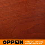 PVC зерна белой и красной вишни Oppein деревянный сползая шкаф (YG11545C)