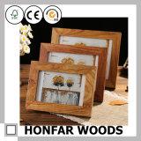 Высокомарочная рамка фотоего изображения твердой древесины для домашнего украшения
