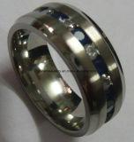 De Ringen van het Titanium van CZ van de Steen van de Kleur van Jewellry van de manier (TR1825)
