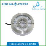 Luz subacuática de la fuente de IP68 LED para la fuente