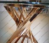 Moderner Entwurfs-Rosen-goldene Metallkaffeetisch-Möbel