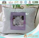Almohadilla blanca BRITÁNICA del poliester de la talla estándar de la cubierta pura del algodón
