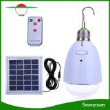Iluminación casera de interior accionada solar recargable teledirigida infrarroja de la luz de bulbo de 12 LED LED