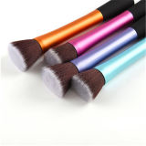 5PCS Metal Tube Synthetic Hair Novo estilo Flat Kabuki Brush