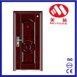 Puerta de entrada de lujo de la seguridad en la puerta exterior de acero