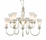 Lámpara de cristal del cromo de la cortina del hierro labrado del Simplism
