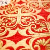 Panno di prima scelta del sofà del jacquard rosso luminoso 2017 (FTH31615)