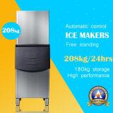 Máquina de gelo modular quente do aço inoxidável da venda com escaninho de armazenamento