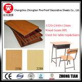 Grano de madera Formica Junta de laminado compacto
