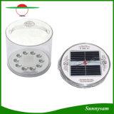 電池のレベル標識を含む携帯用再充電可能なFoldable太陽キャンプのランタン10 LED膨脹可能な太陽ライト