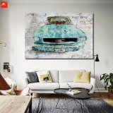 Oude het Schilderen van de Kunst van de Muur van de Auto Af:drukken op Canvas