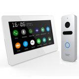 Touch Screen 7 Zoll inländisches Wertpapier-Wechselsprechanlage-videotür-Telefon-mit Speicher